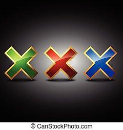 cross symbol vector icon