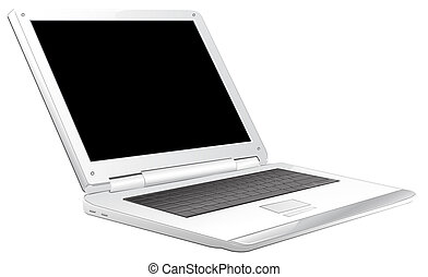 laptop - drawing of beautiful laptop in a white background
