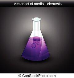 vector flask