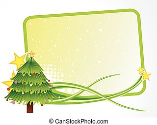 Christmas tree with text space - vector Christmas tree with...