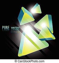 green shape design - stylish bluish green shape design