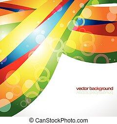 stylish wave background design