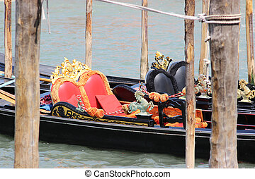 Two gondolas Venice Italia - The Venice gondolas await...