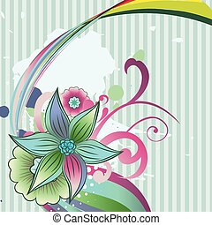 abstract flower art - vector abstract flower design...