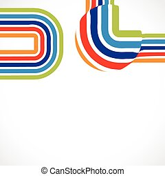 vector lines - vector colorful lines background with space...
