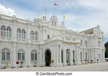 Penang architecture - An imposing building in Penang,...