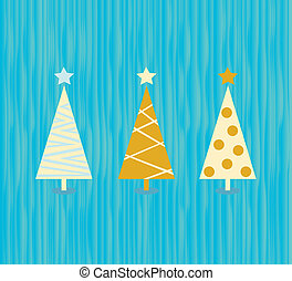 Vintage christmas tree pattern - Modern christmas trees...