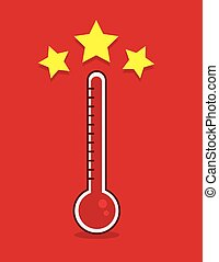 Thermometer Goal Met - Red thermometer filled up with goal...