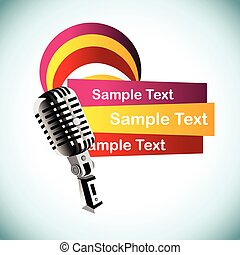 abstract vector mic background illustration