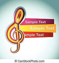 vector music background - vector music note design...