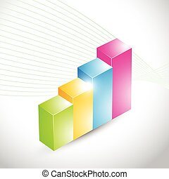 colorful 3d looking graph
