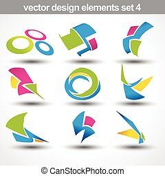 abstract shape vector set 4