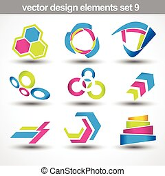 abstract shape vector set 9