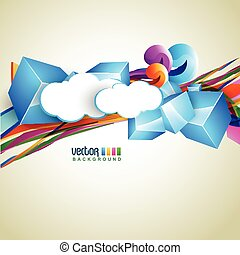 eps10 vector - beautiful cloud background. Eps10 vector