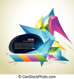 abstract shape design with space for you text