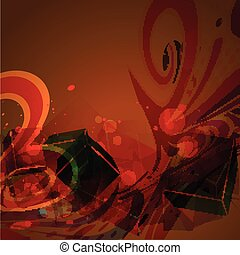 abstract shape design - abstract shape retro style artwork