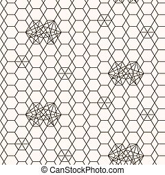 Seamless pattern. Geometric texture. Abstract background....