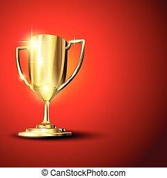 Golden trophy illustration