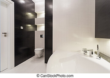 Black and white bathroom - Exclusive black and white...