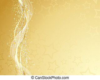 Golden Christmas - Decorative gold Christmas background