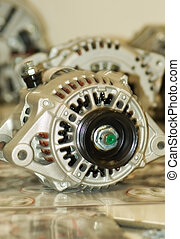 alternator - modern automotive power generating alternator...