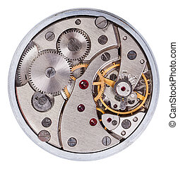 Old clockwork mechanism - Macro of pocket clock mechanism