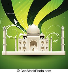 taj mahal vector - Beautiful taj mahal vector illustration