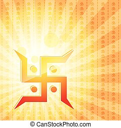 swastik symbol - vector swastik symbol background