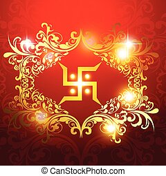 swastik symbol on beautiful artistic background