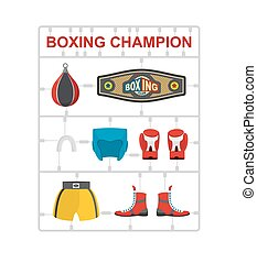 Boxing champion Plastic model kits Vector illustration