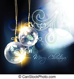 shiny christmas ball - vector shiny christmas bal on...