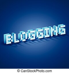 web blogging - vector blogging text design