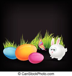 cute rabbit - colorful cute rabbit vector design