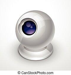 white webcam - vector white webcam design illustration