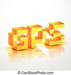 gps text vector