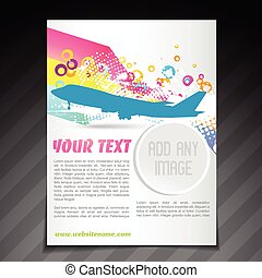 travel brochure flyer template design - vector travel...