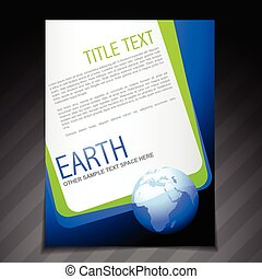 nature flyer brochure poster template design - vector nature...