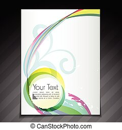 colorful flyer brochure template