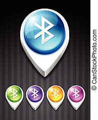 bluetooth icon - vector bluetooth 3d style icon
