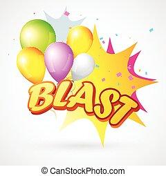 illustration of  blast with balloon