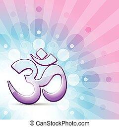 vector hindu om symbol