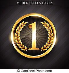 winner label design - winner emblem golden no. 1 label...