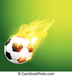 illlustration of burning football - vector illlustration of...