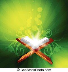 quraan book - vector holy book of quraan