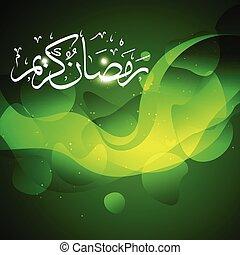 beautiful ramadan kareem vector