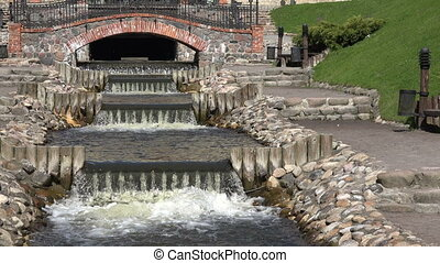 river cascade stair water - River brook waterfall cascade...