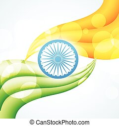 stylish indian flag design