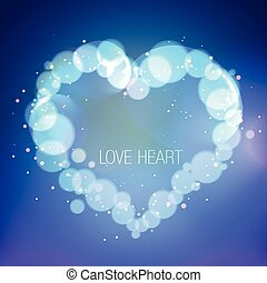 illustration of heart in bokeh effect