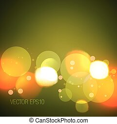 illustration of glowing bokeh lights