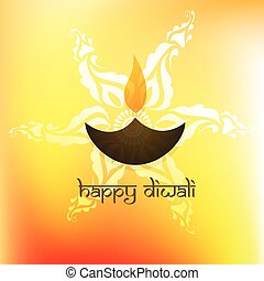 happy diwali - stylish happy diwali vector background